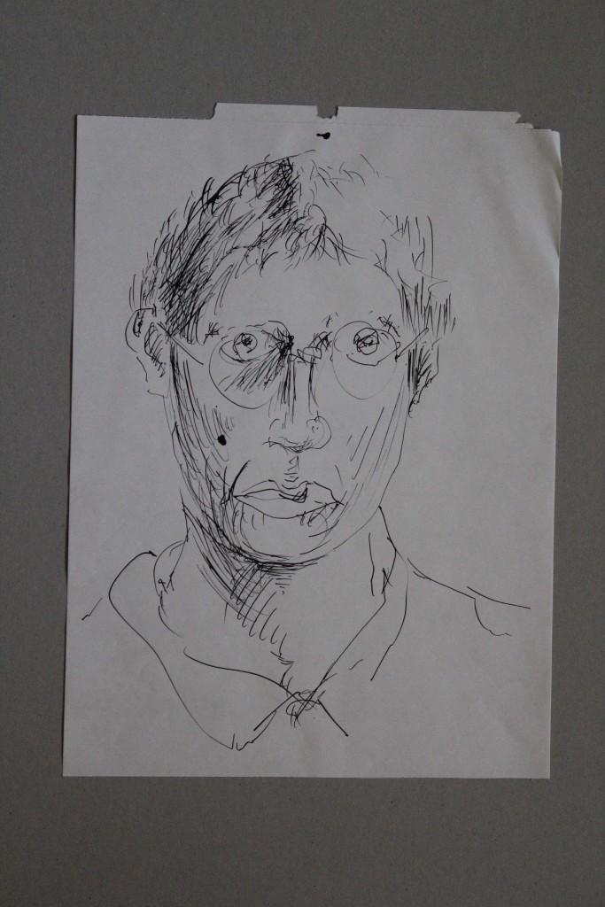 Selbst, Feder/Tusche auf Papier, 80-er Jahre, 29,5 x 42