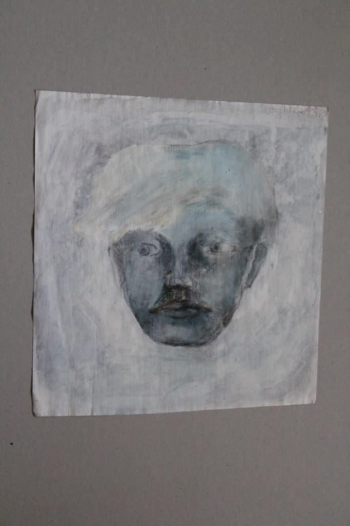 Portrait, Bleistift/Dispersion auf Papier, 80-er Jahre, 30,5 x 33