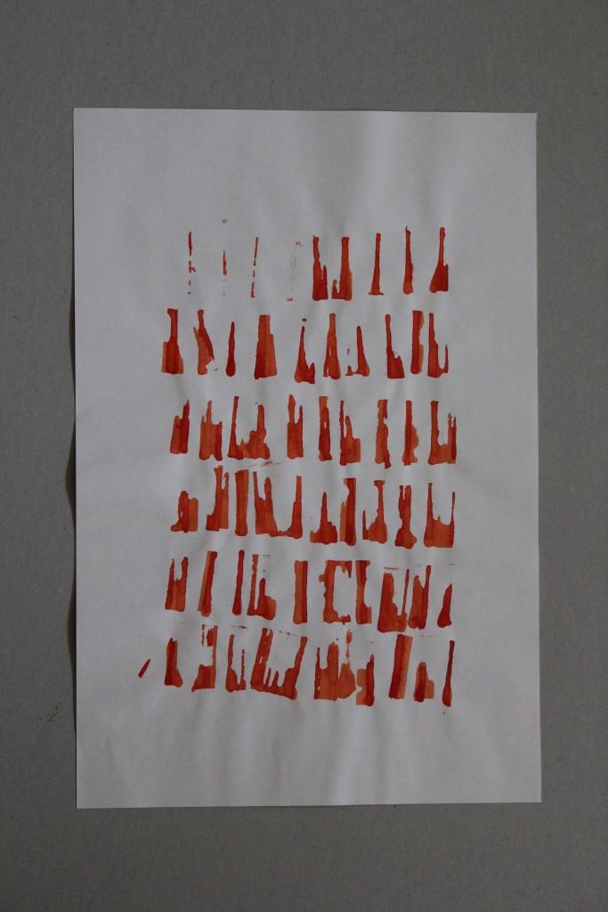 seriell (2), Gouache auf Papier, 80-er Jahre, 28 x 42