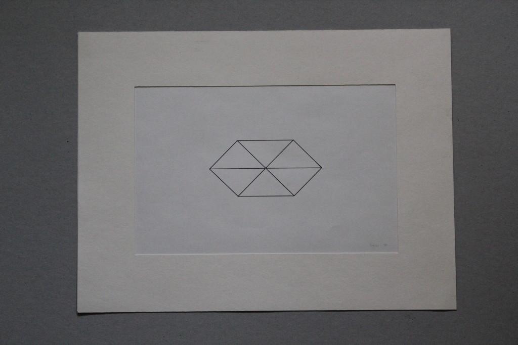 Konstruktion, Tusche auf Papier, 1984, 28 x 18
