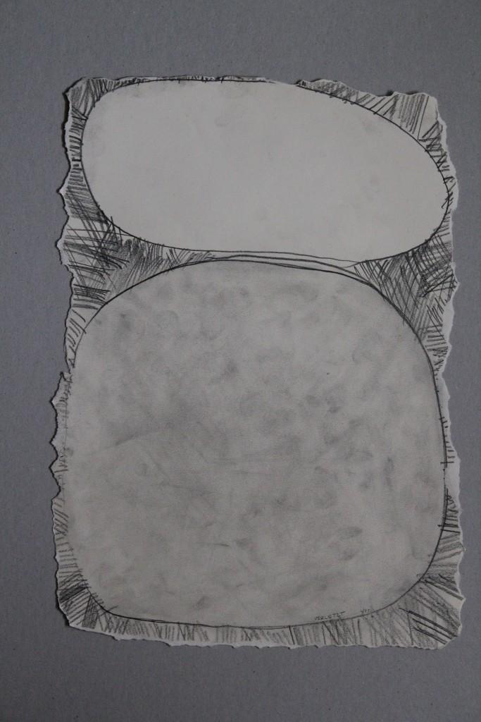 Teigbild (verletzt), Bleistift auf Papier, 1983, ca. 43,5 x 30