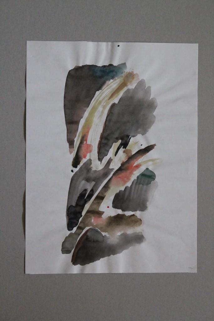 informel, Tusche/Gouache auf Papier, 1982, 29,5 x 39,5