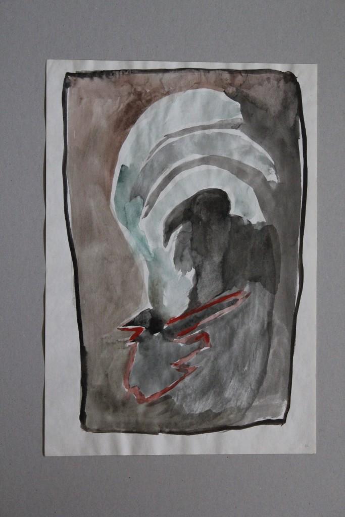 nicht informel, Gouache auf Papier, 1982, 29,5 x 39,5