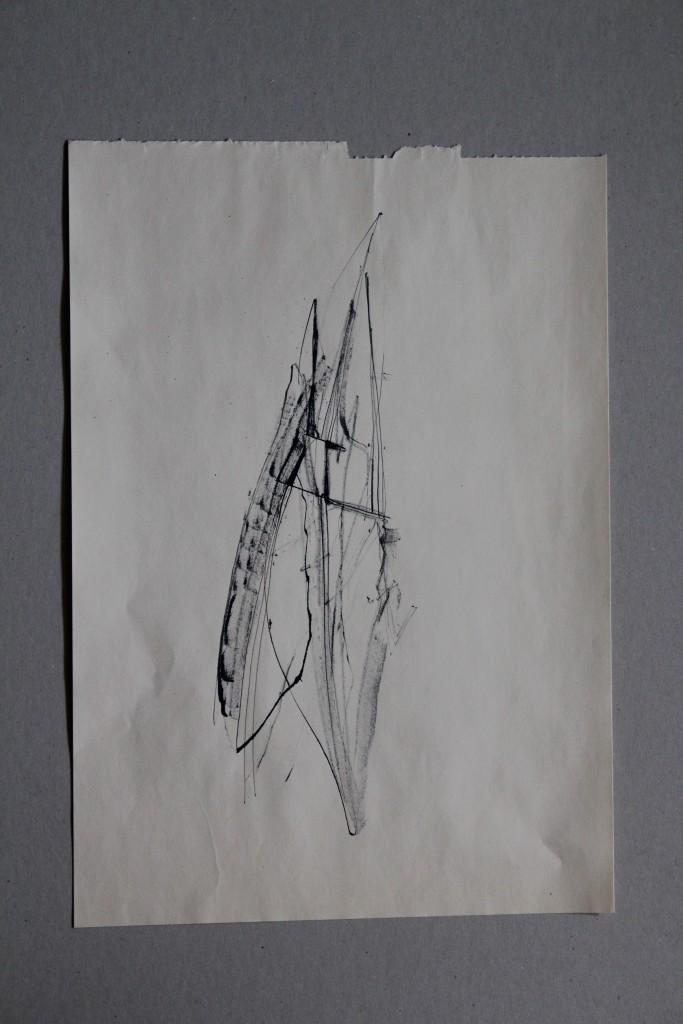 informel, Rohrfeder/Tusche auf Papier, 80-er Jahre, 29 x 41