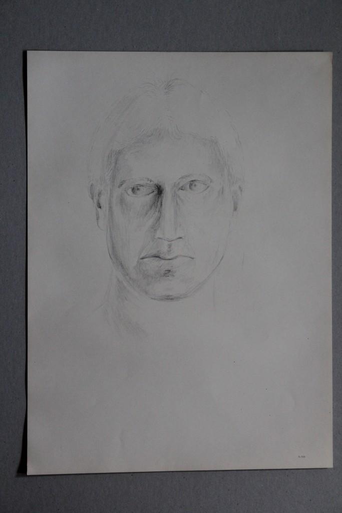 Portrait, Bleistift auf Papier, 1983, 33 x 45