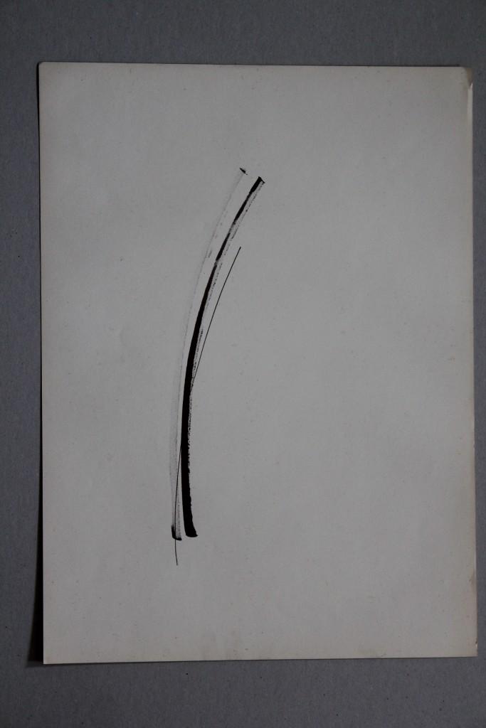 Informel, Rohrfeder/Tinte auf Papier, 80-er Jahre, 33 x 45