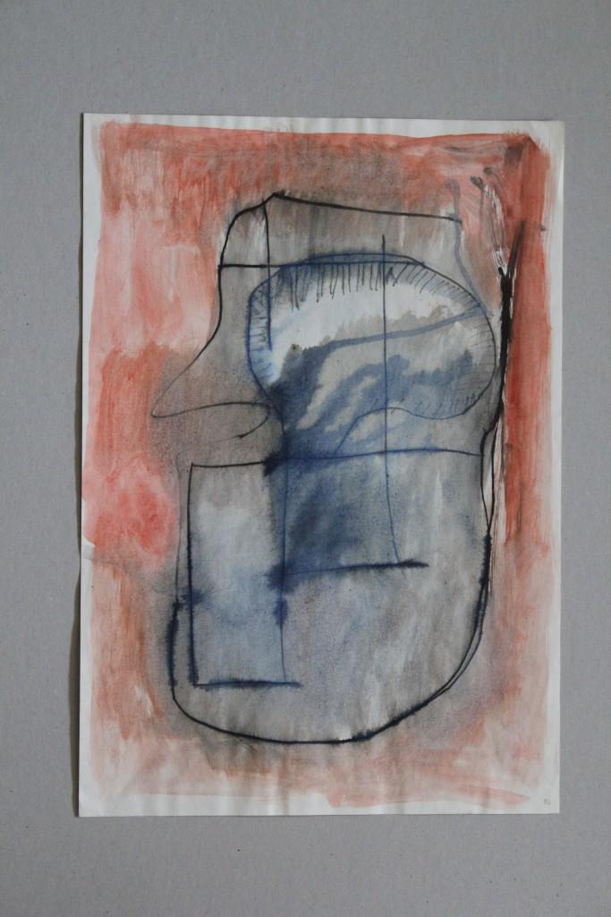 schmutziger Garten, Tusche/Gouache auf Papier, 1982, 29 x 42