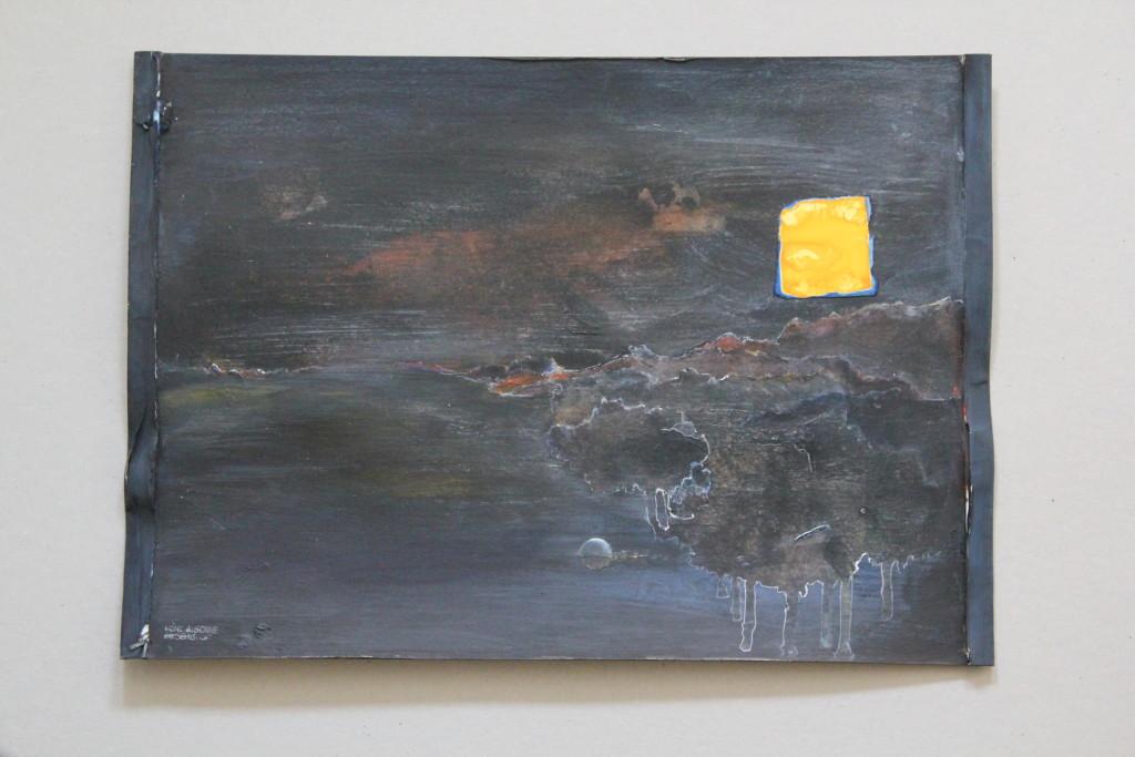surreal, Acryl auf Graupappe, 80-er Jahre, 42 x 29,7