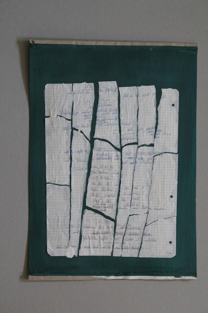 Fragmente, Papier auf Graupappe, 80-er Jahre, 42 x 29,7