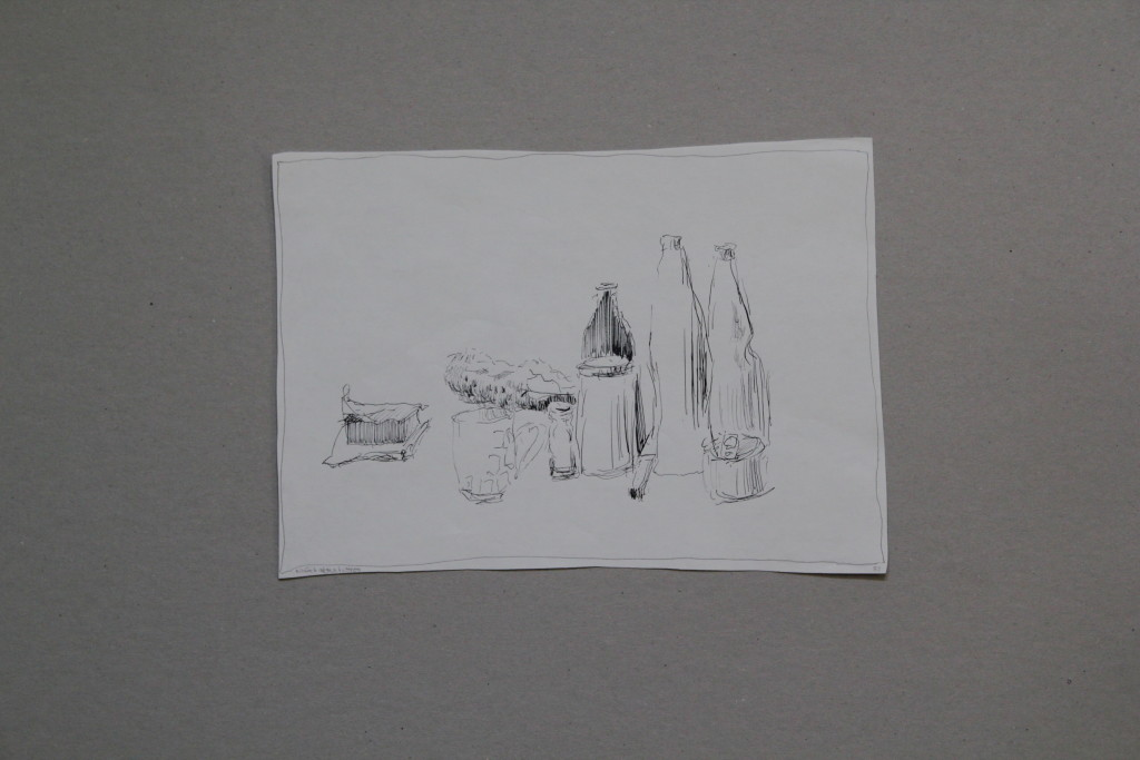 Stillleben, Feder/Tinte auf Papier, 1983, 29 x 23,5