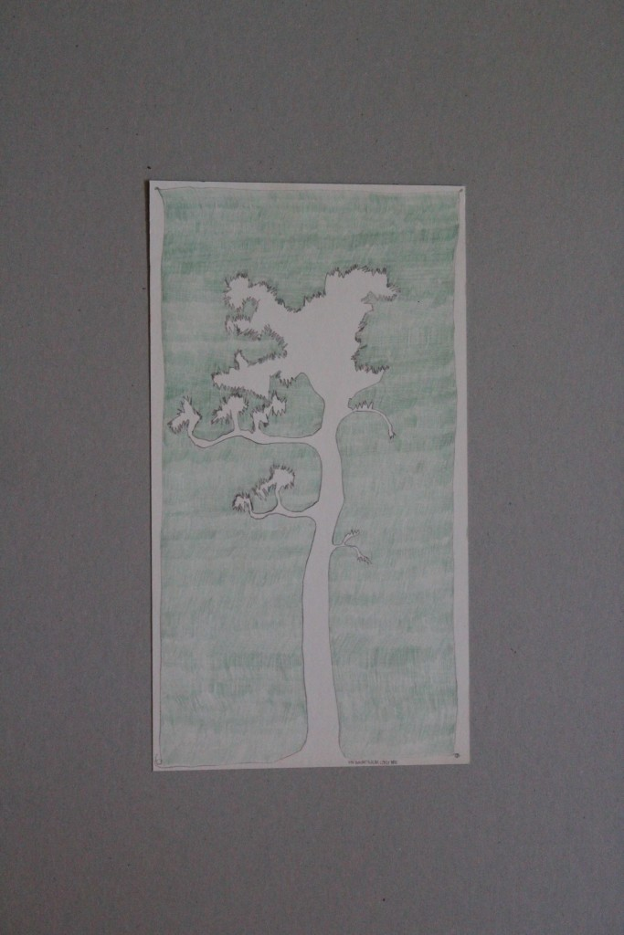Ein Baumtraum lügt nicht, Farbstift, Bleistift auf Papier, Anfang 80-er Jahre, 19,5 x 35