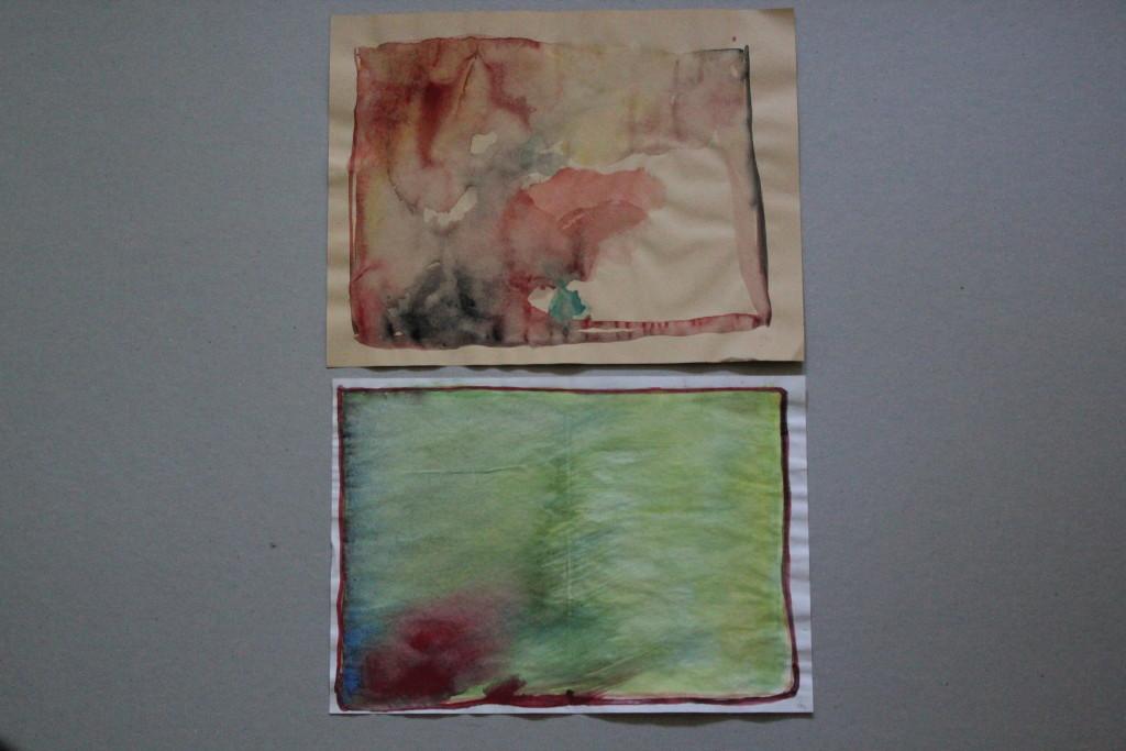 2 x abstrakt, Aquarell, Gouache, 1982, 29,5 x 22