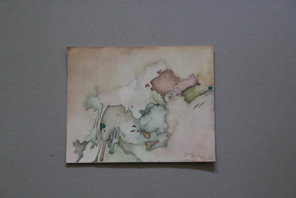 wieder zurück, Feder/Tusche, Aquarell auf Papier, Anfang 80-er Jahre, 27,5 x 22