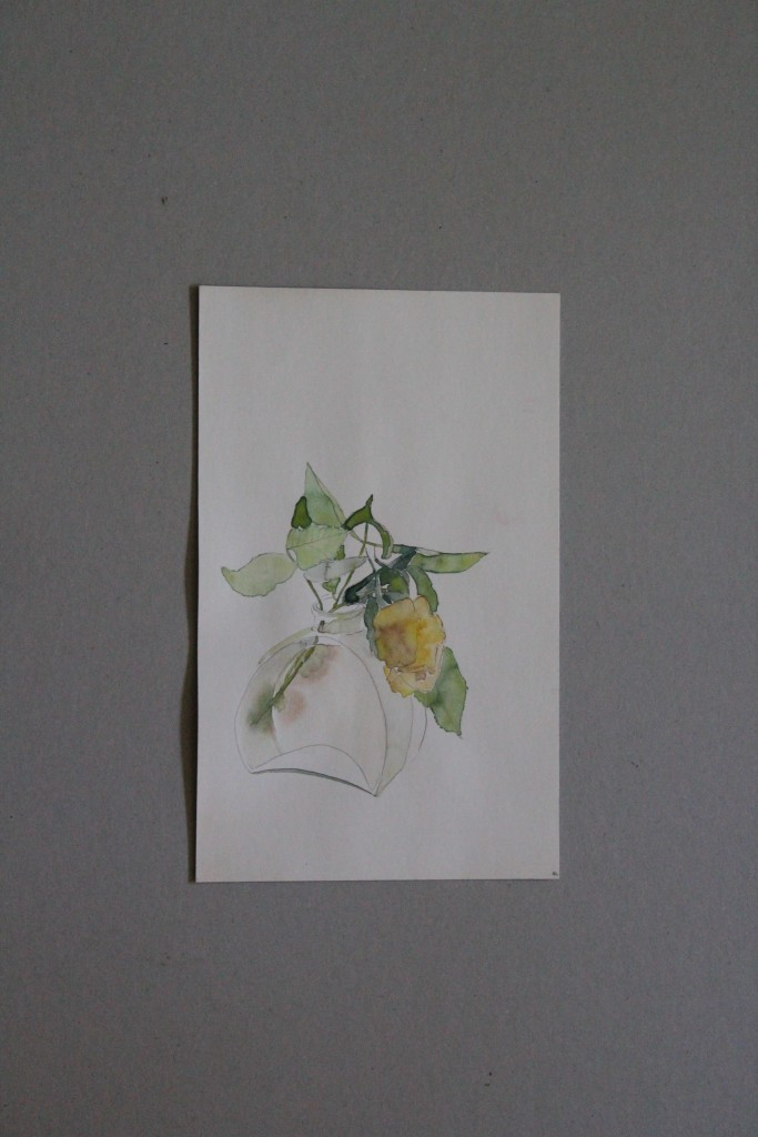 Rose, Aquarell, 1982, 18 x 28