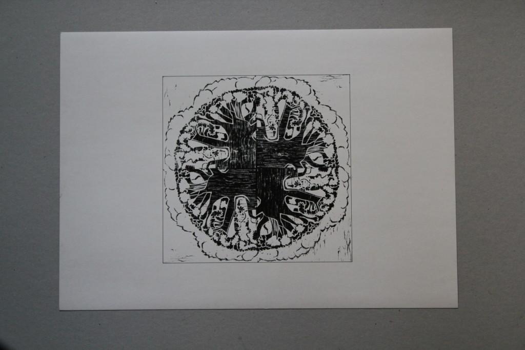 Blumenkohl, Holzschnitt, Anfang 80-er Jahre, 30 x 30