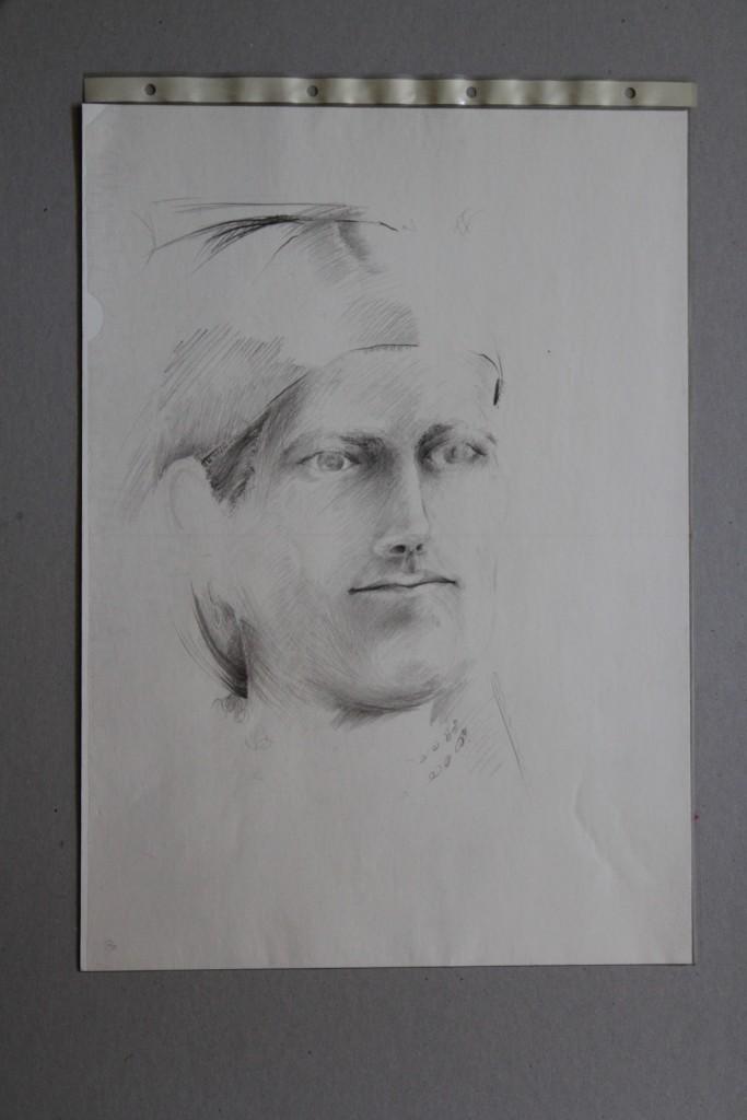 Portrait, Bleistift auf Papier, Anfang 80-er Jahre, 29,7 x 42