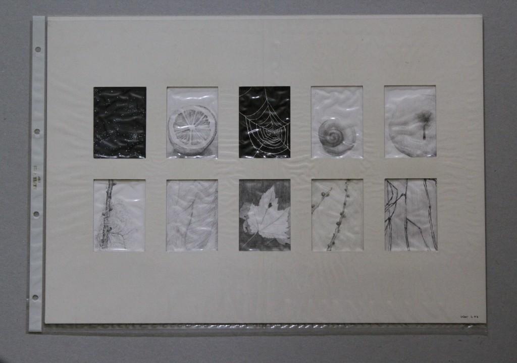 Übungen, Tusche, Bleistift auf Papier, Anfang 80-er Jahre, 42 x 29,7