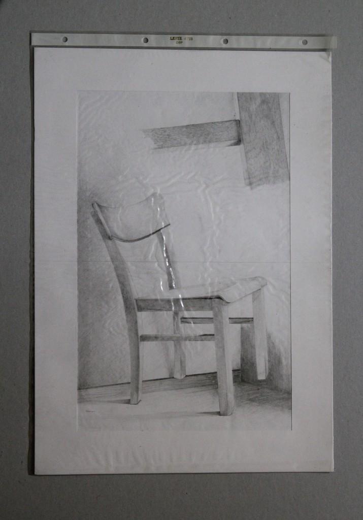 Stuhl, Bleistift auf Papier, Anfang 80-er Jahre, 42 x 29,7
