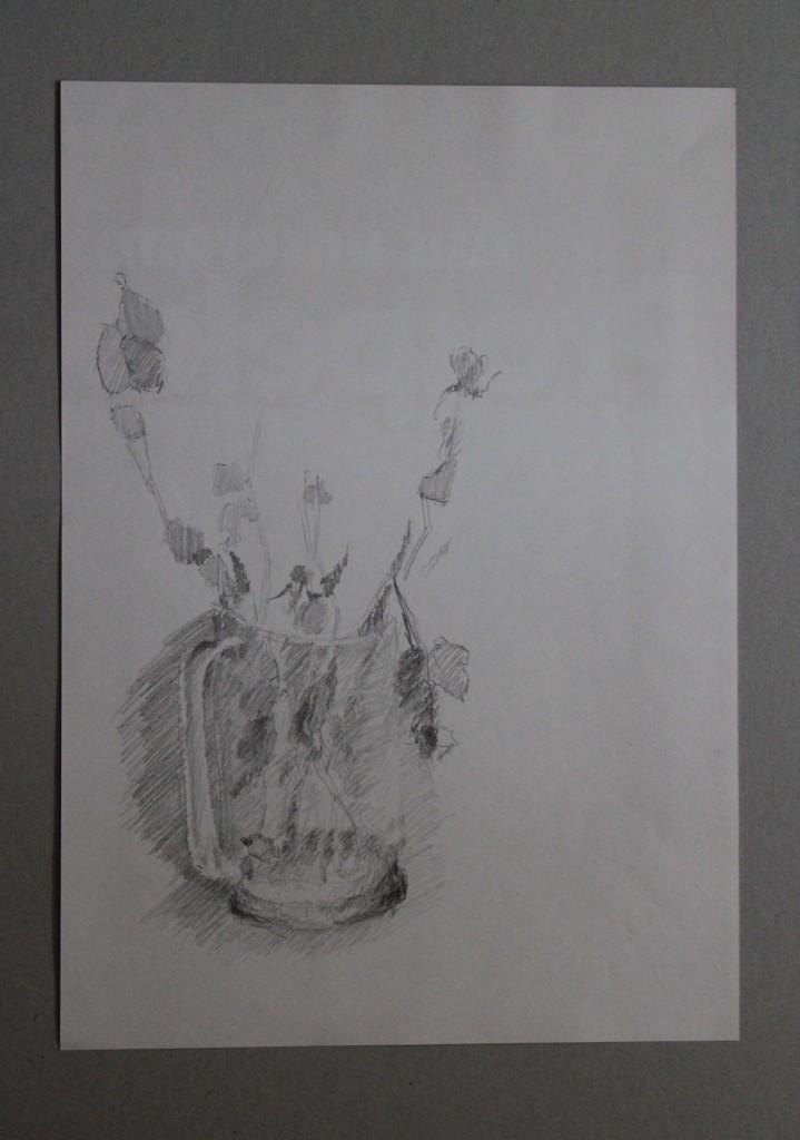 Rosen, Bleistift auf Papier, Anfang 80-er Jahre, 29,5 x 42