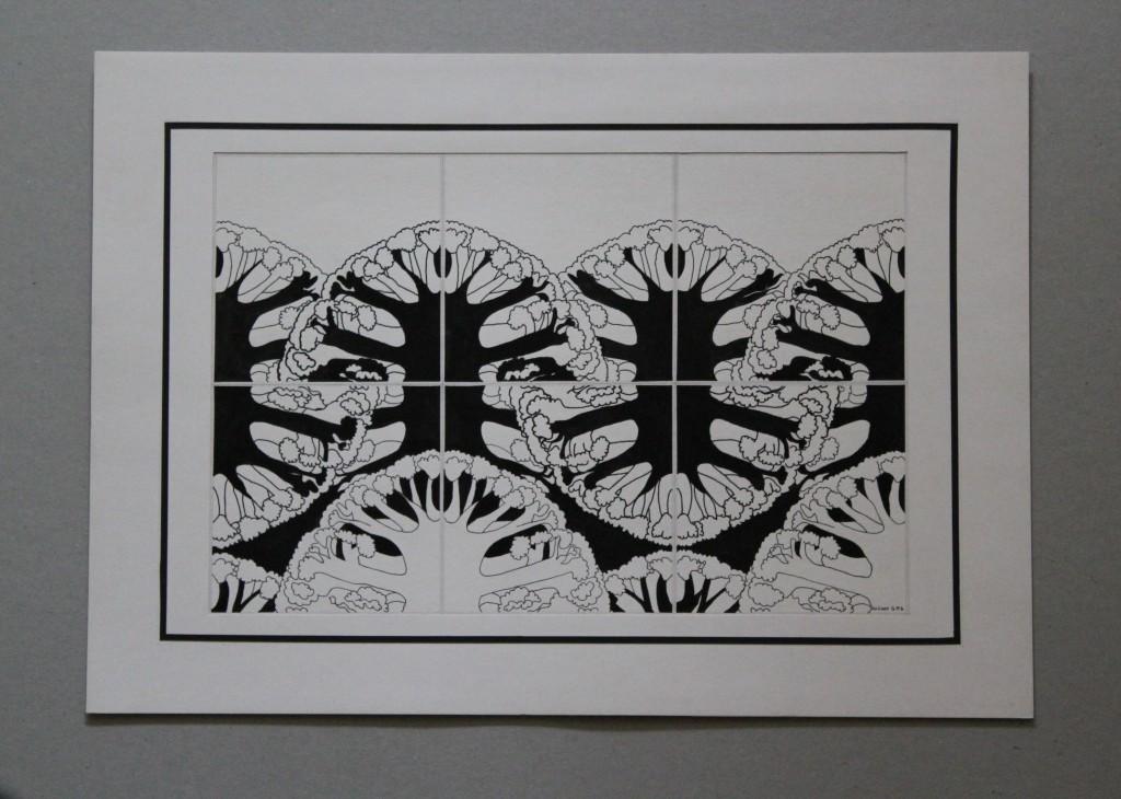 Blumenkohl, Tusche auf Papier, Anfang 80-er Jahre, 31 x 21