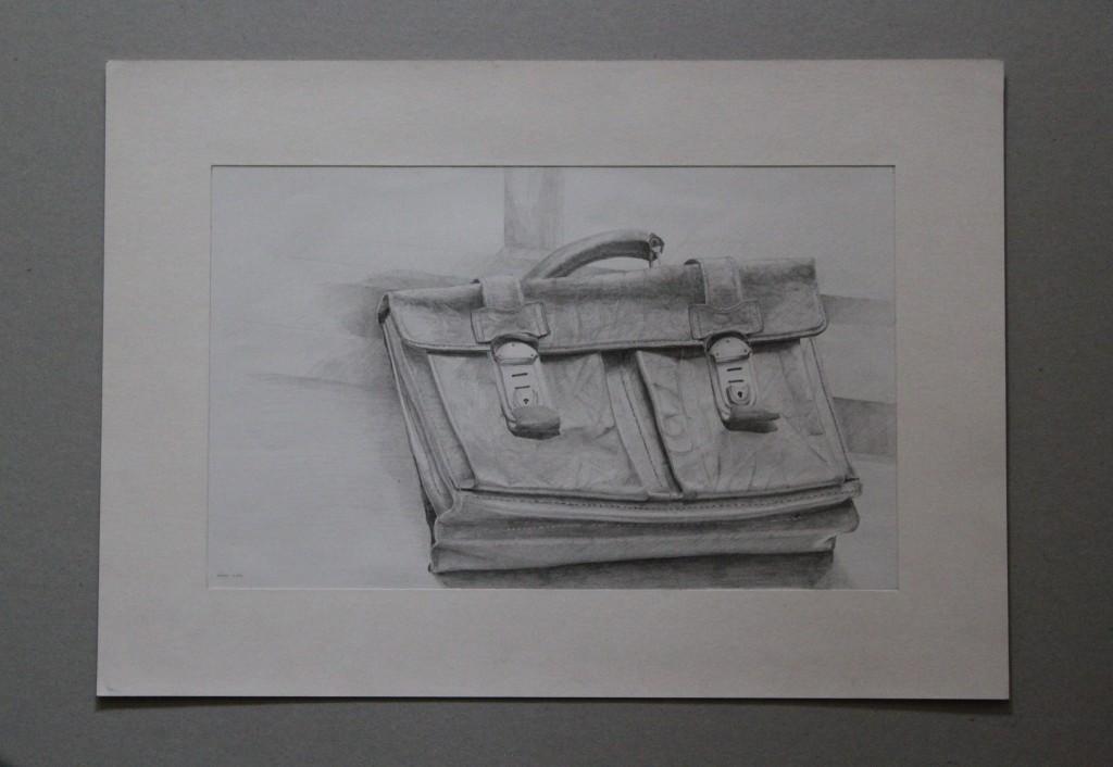 Schultasche, Bleistift auf Papier, Anfang 80-er Jahre, 32 x 19,5