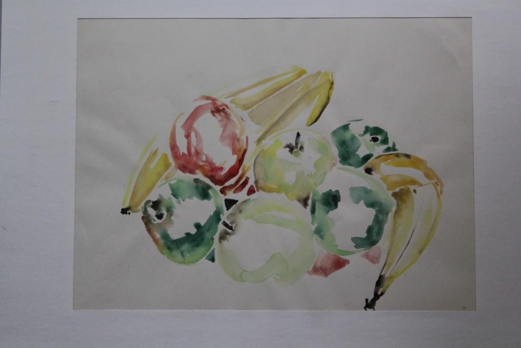 Früchte, Aquarell, Anfang 80-er Jahre, 42 x 31,5