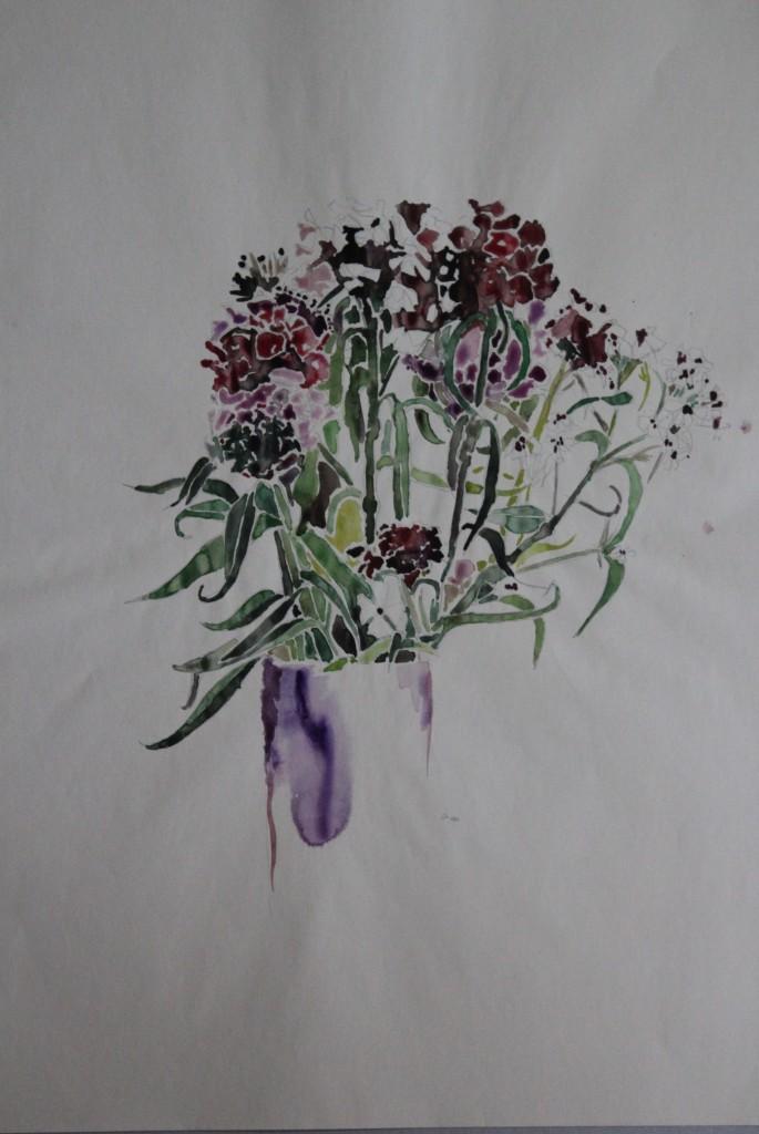 Blumen, Aquarell, 1981, 41,5 x 56
