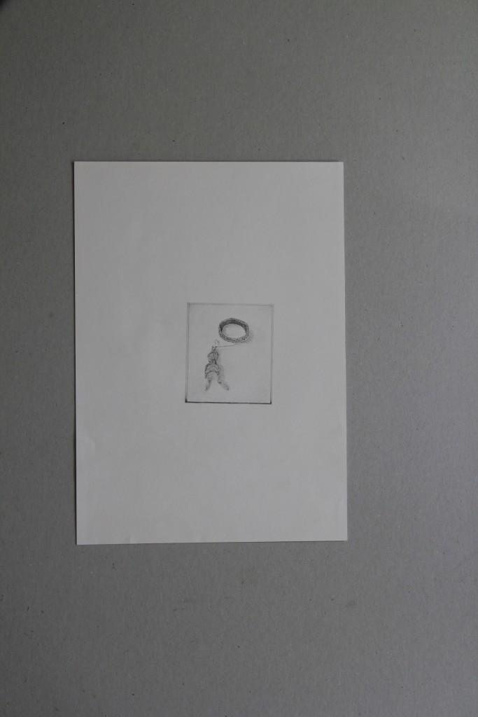 Schmuck, Bleistift auf Papier, Anfang 80-er Jahre, 21 x 29,5