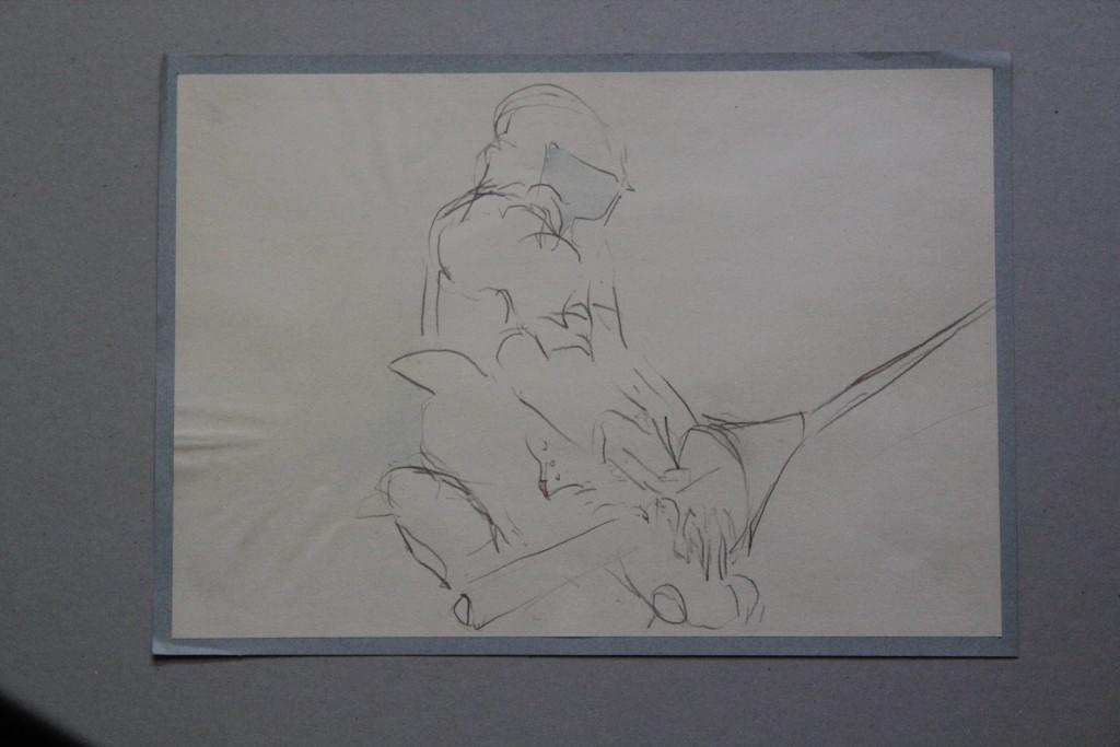 Ritter, Bleistift auf Papier, Anfang 80-er Jahre, 40 x 28