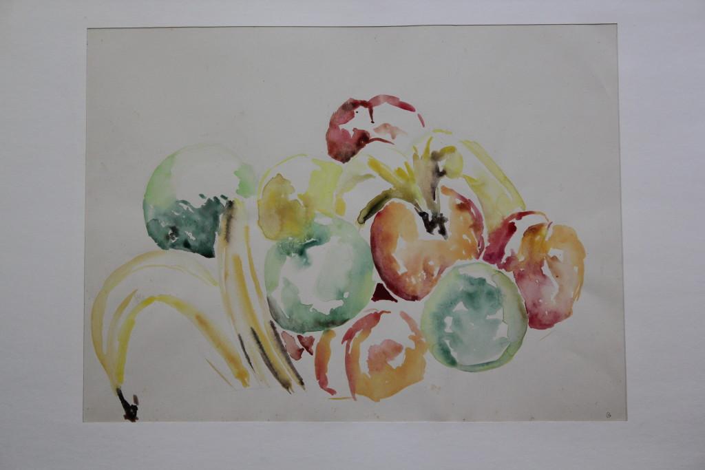 Früchte, Aquarell, Anfang 80-er Jahre, 42 x 32