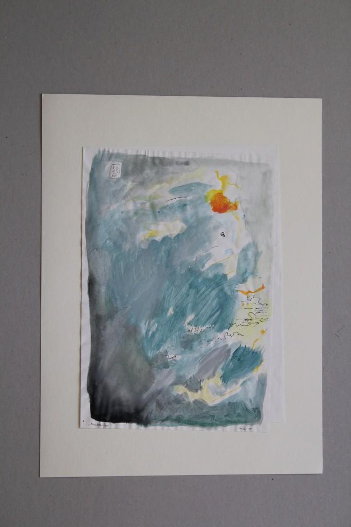 """""""Bernsfelder Tage"""", Gouache auf Papier, 1985, 21 x 30,5"""