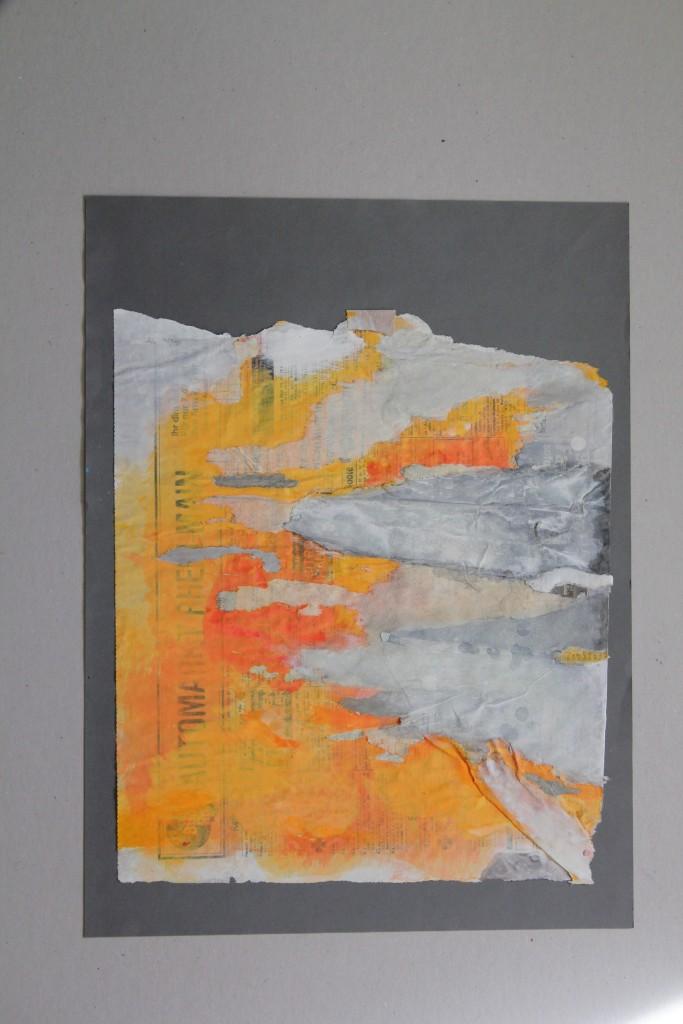 informel, Dispersion auf Zeitungspapier, 1986, 30 x 40