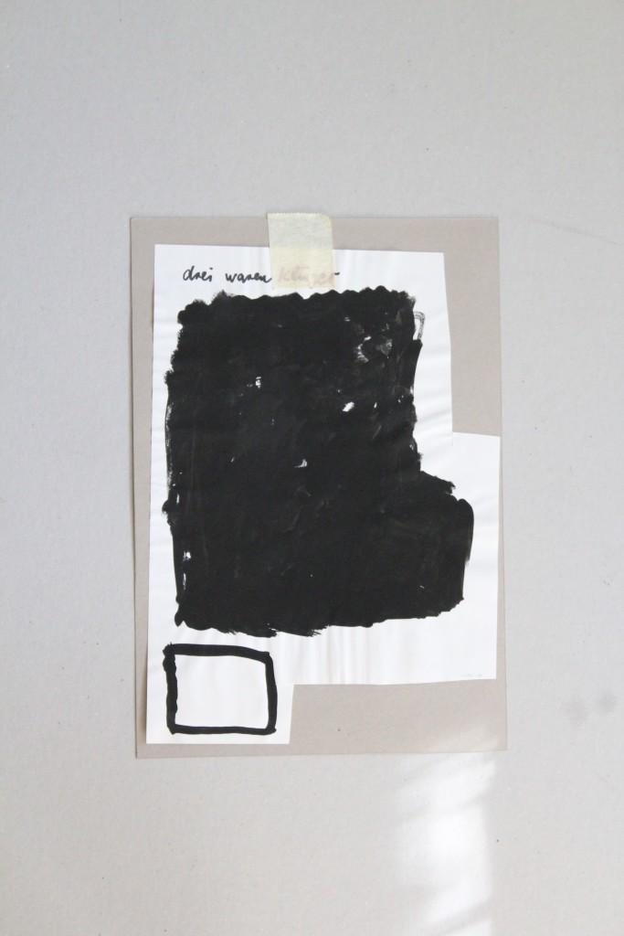 drei waren klüger, Dispersion auf Papier, 1988, 22 x 32