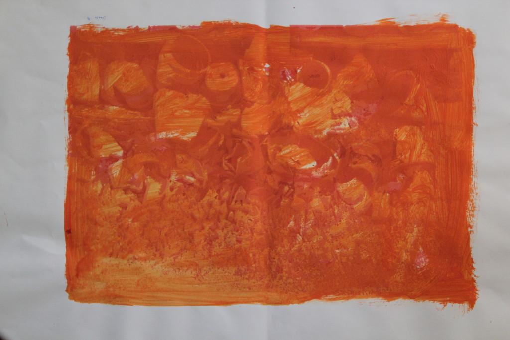 Töpfe, Dispersion über Siebdruck, 1986, 61 x 43
