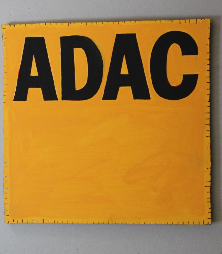 """WVZ 8-3-17, Acryl auf Sperrholz, """"ADAC (App)"""", 2017, 33 x 32"""