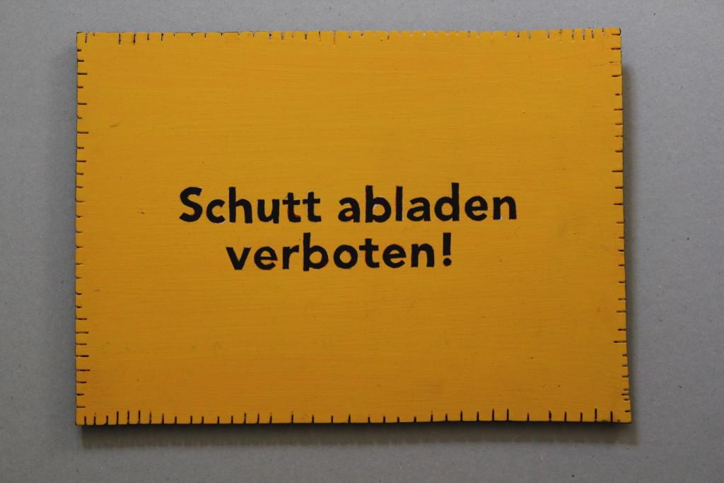 "WVZ 12-3-17, Acryl auf Sperrholz, ""Objekt: ""Schutt abladen..."", 2017, 32 x 23"