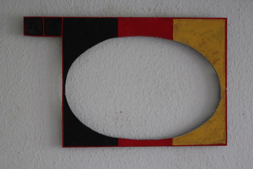 """WVZ 11-4-17, Acryl auf Sperrholz, """"B (das Ei)"""", 2017, 55 x 34,8"""