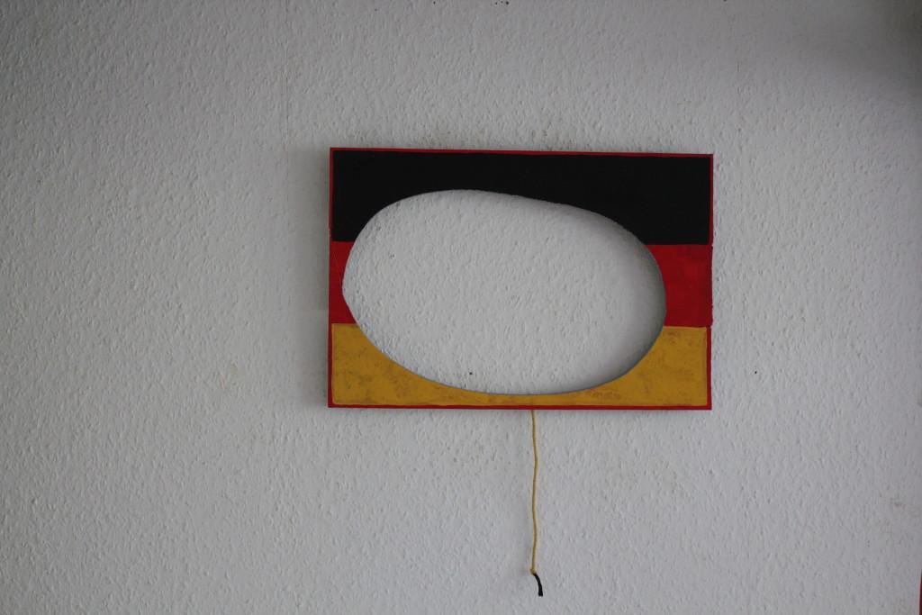 "WVZ 10-4-17, Acryl auf Sperrholz, ""D (das Ei)"", 2017, 45 x 30"