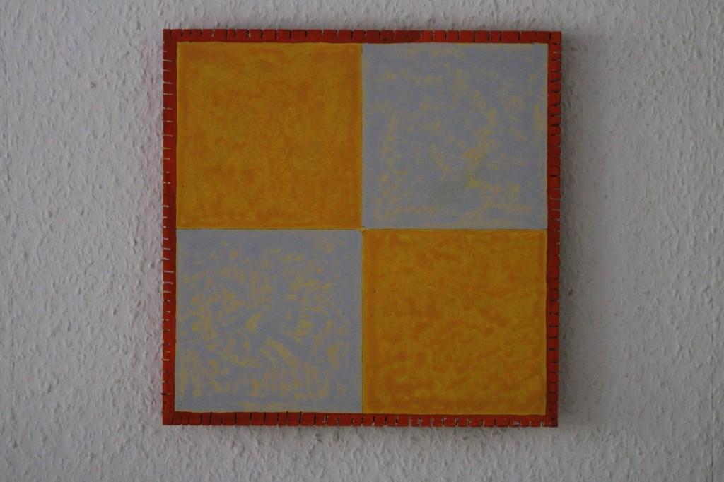 "WVZ 9-4-17, Acryl auf Sperrholz, ""gevierteilt (im Quadrat)"", 2017, 30 x 30"