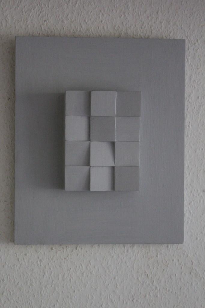 "WVZ 1-4-17, Acryl auf Holz, ""Lichtspiel (Kassel)"", Remix/Aufarbeitung, 2017, 31 x 37,5 x 5"