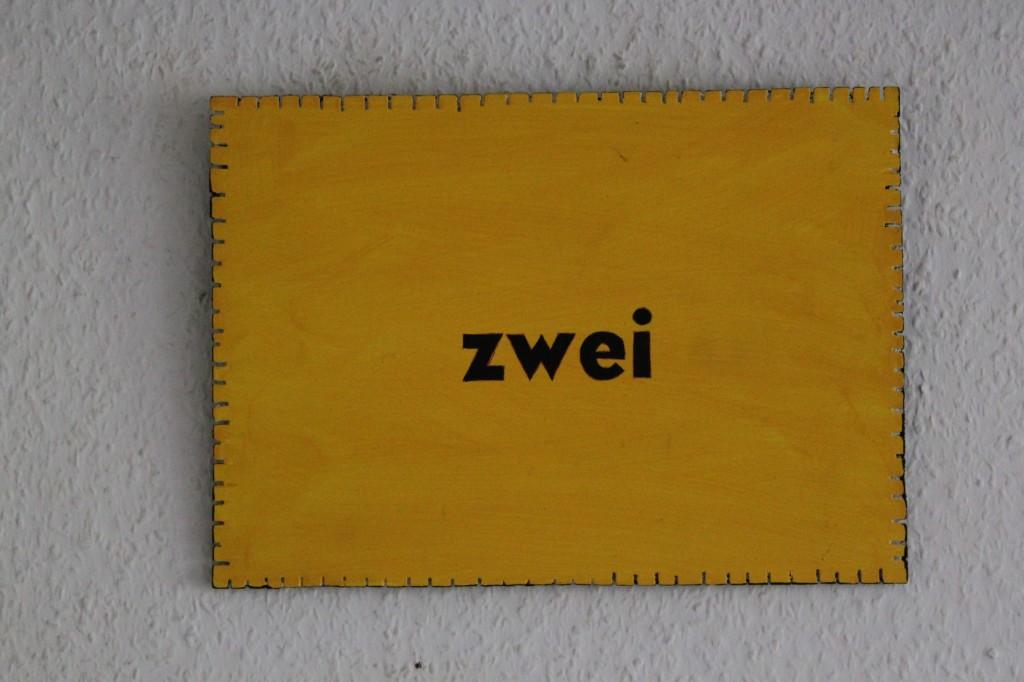 """12-4-17, Acryl auf Sperrholz, """"Objekt: """"zwei"""", 2017, 32 x 23"""