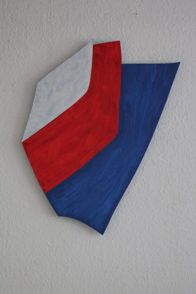 """WVZ 3-5-17, Acryl auf Sperrholz, """"Länder der Revolution (keine Freunde, nur Interessen)"""". 2017, ca. 48 x 58"""