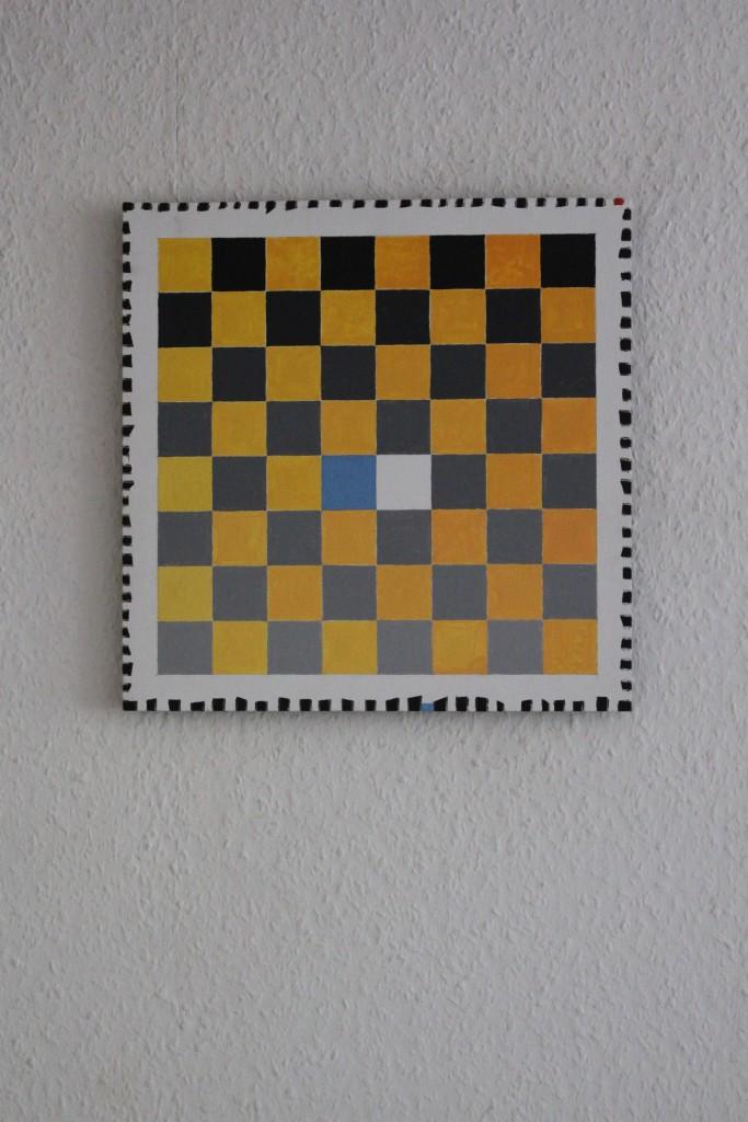 """WVZ 1-5-17, Acryl auf Sperrholz, """"Schacht (Energie)"""", 2017, 32,5 x 32,5"""