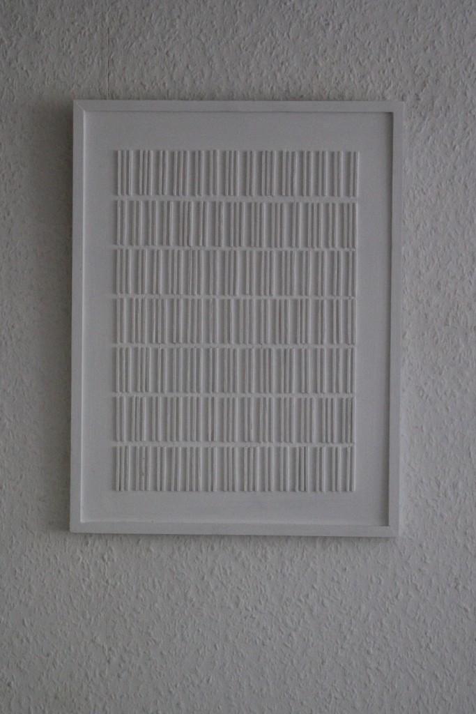 "WVZ 4-5-17, Acryl auf Holz, ""Brief an das Licht: senkrecht - 2/3"", 2017, 32 x 42"