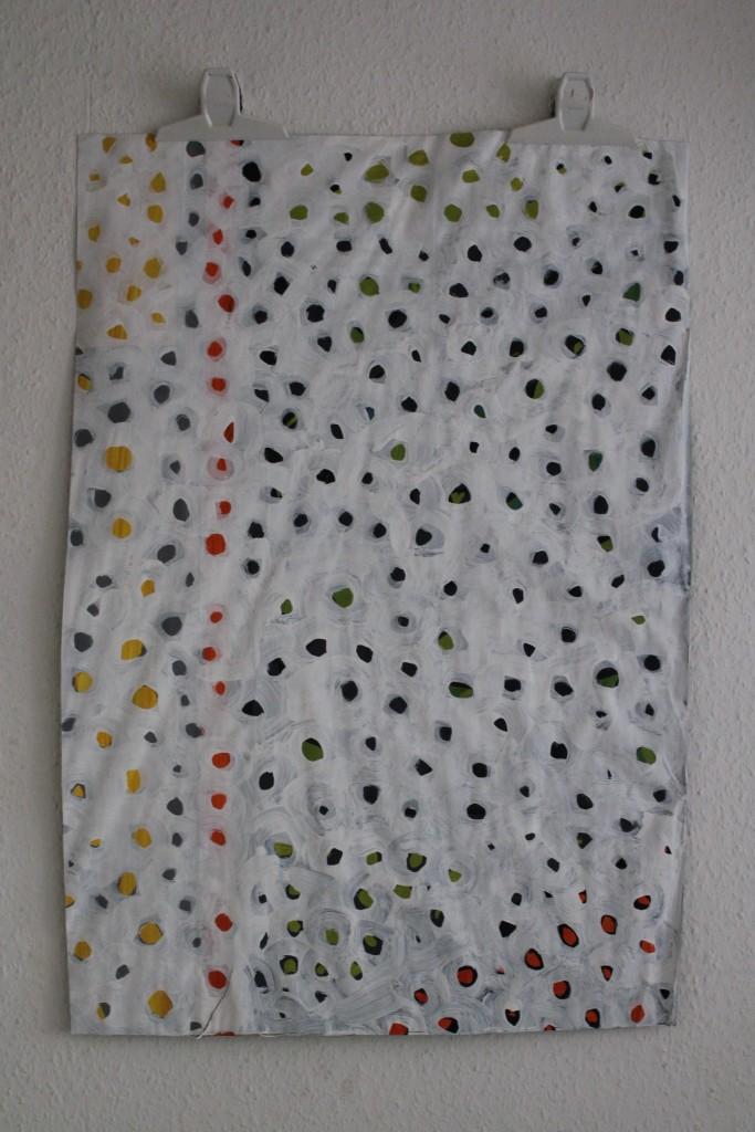 """WVZ 5-5-17, Acryl auf Papier, """"Schnee von gestern..."""", 2017, ca. 57 x 83"""