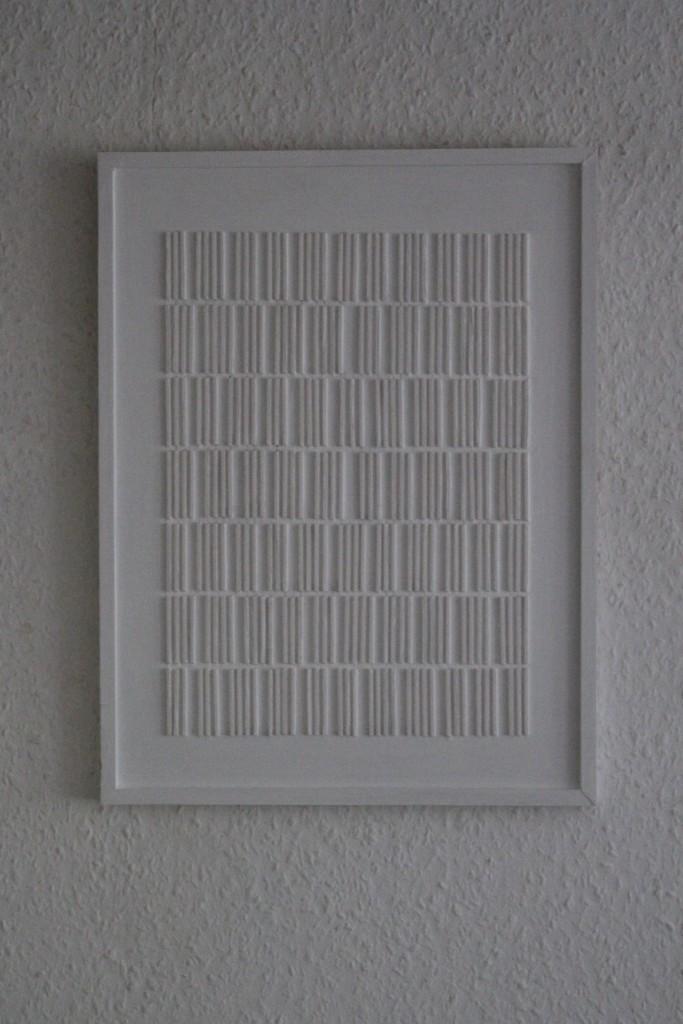 "WVZ 10-6-17, Acryl auf Holz, ""Brief an das Licht: senkrecht - 3/4"", 2017, 32 x 42"