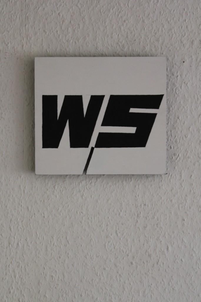 """WVZ 8-7-17, Acryl auf Sperrholz, """"logisch (Plus/Minus)"""", 2017, 22,5 x 20"""