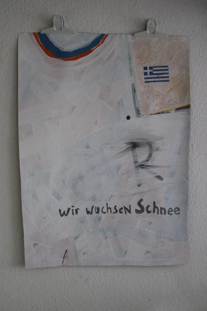 """WVZ 4-7-17, Acryl auf Papier, """"wir wuchsen Schnee"""", 2017, ca. 58 x 82"""