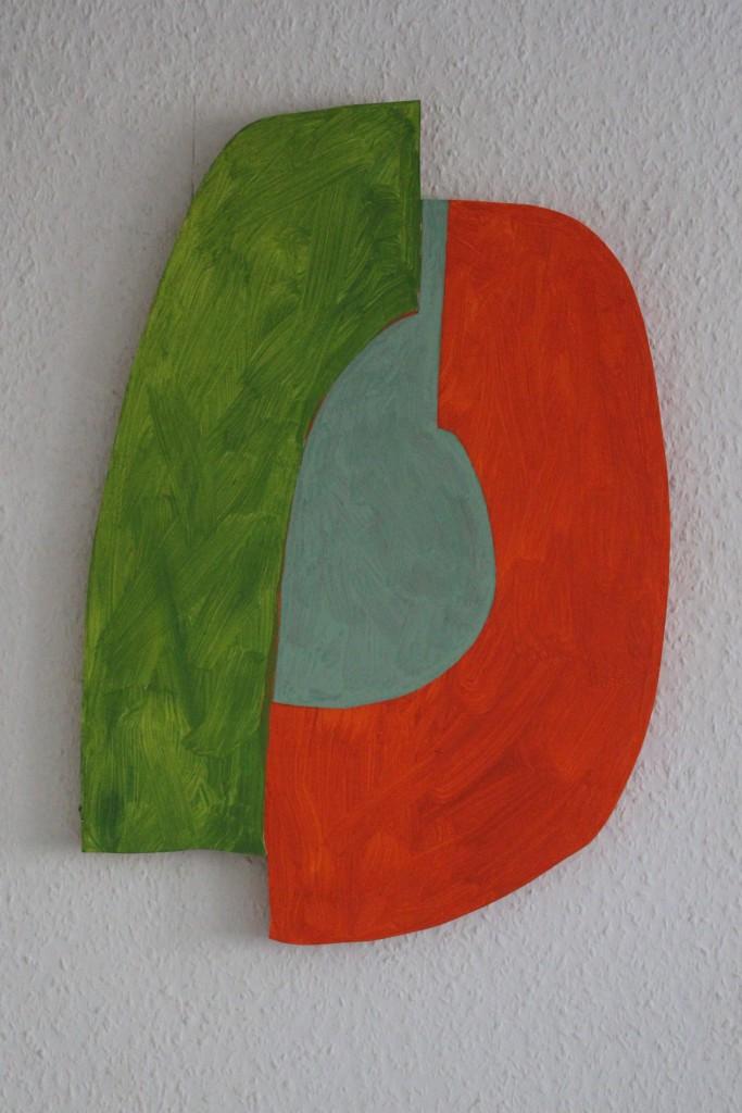 """WVZ 1-10-17, Acryl auf Sperrholz, """"Kompliment - komplementär (so als ob)"""", 2017, ca. 38,5 x 55"""