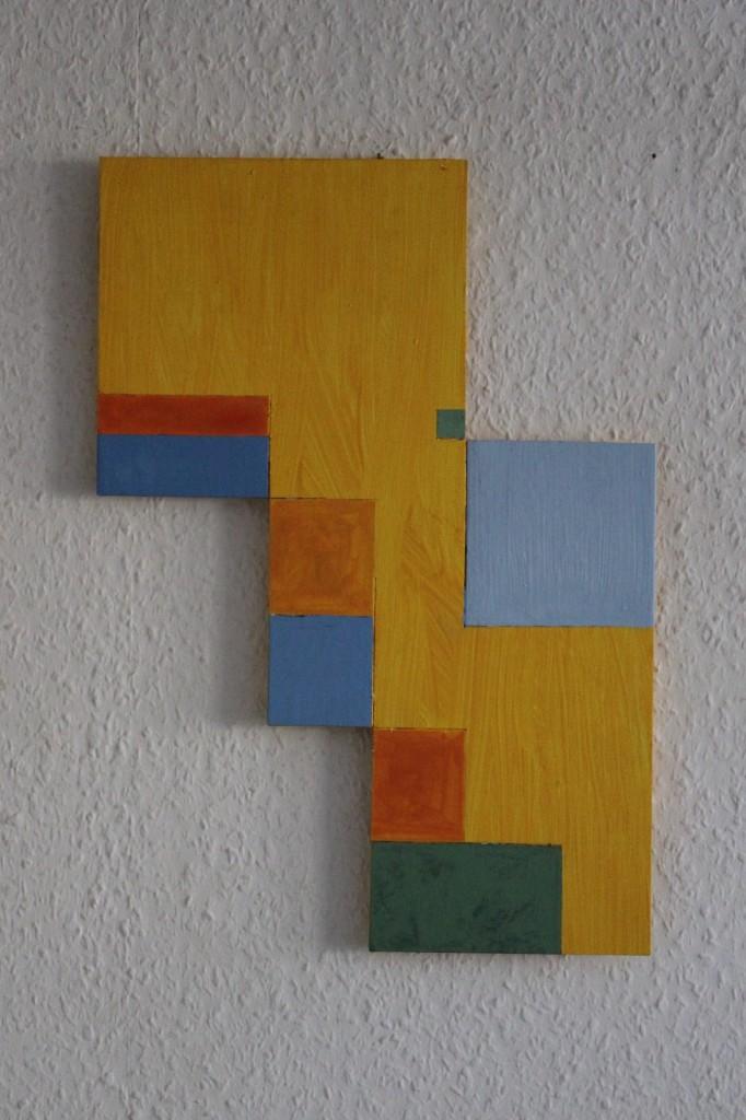 """WVZ 2-10-17, Acryl auf Sperrholz, """"fröhlicher Garten (Garten, orthogonal)"""", 2017, 29,5 x 42"""